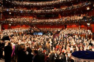 Inside view of the audience at the 80th Academy Awards